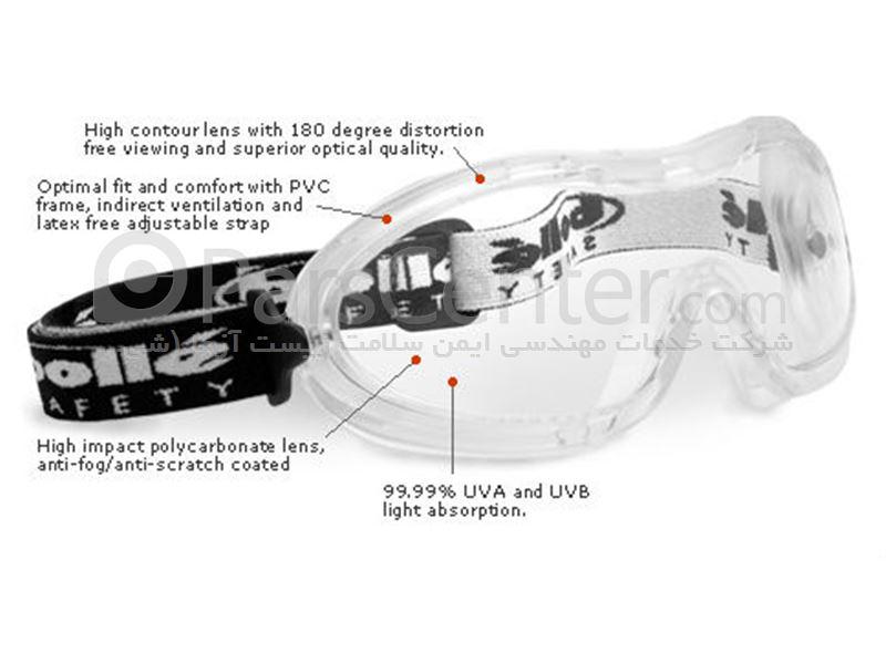 عینک ایمنی گاگل محافظ در برابر گردوغبارات ALBA Safety