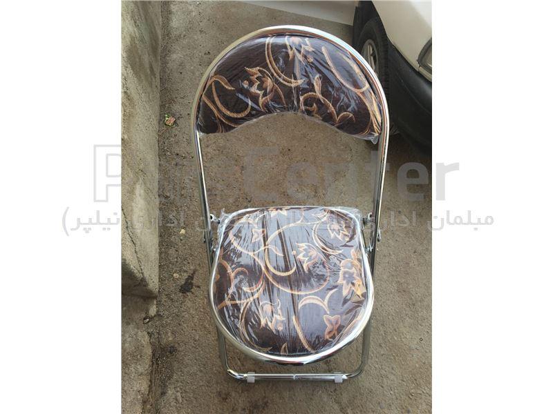 صندلی تاشو فلزی مدل هلالی