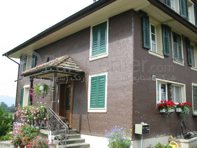 نمای چوبی ساختمان و ویلا