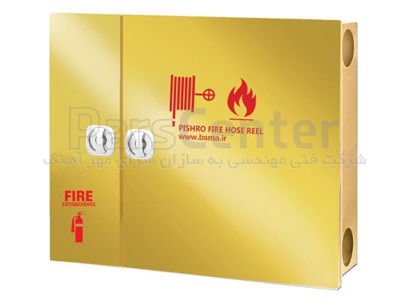 جعبه آتش نشانی درب استیل پیشرو.افقی