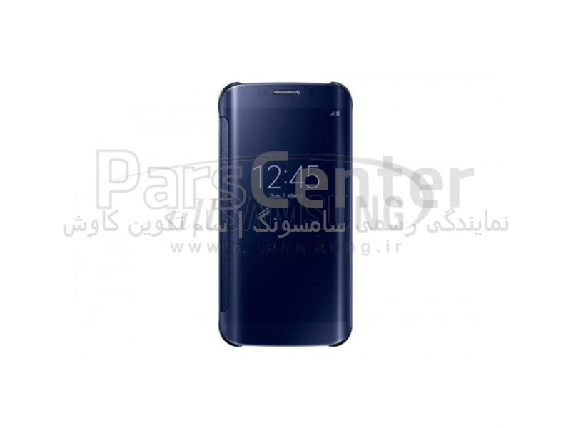 Samsung Galaxy S6 Edge Clear View Cover Black کاور مشکی گلکسی اس 6 اج سامسونگ