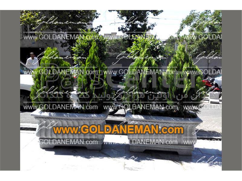 گلدان شهری فایبرگلاس/ کد 2-H114
