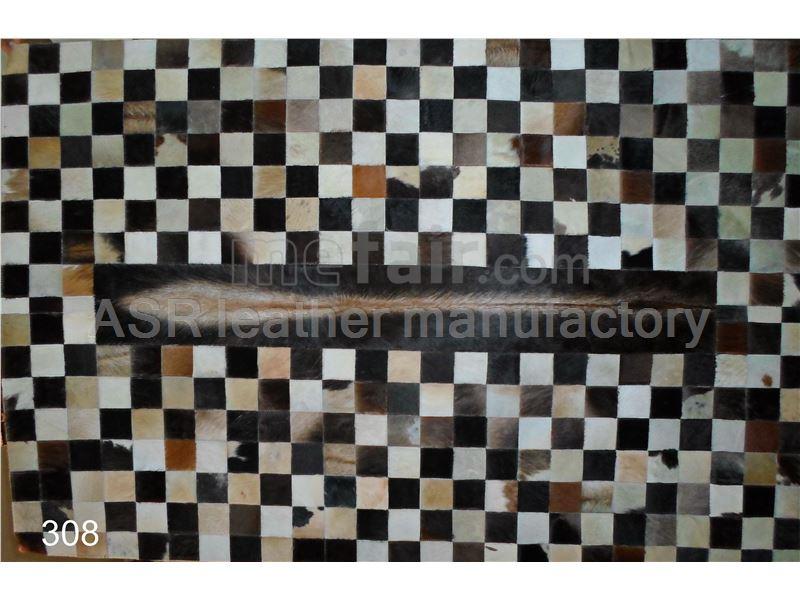 cowhide patchwork rug