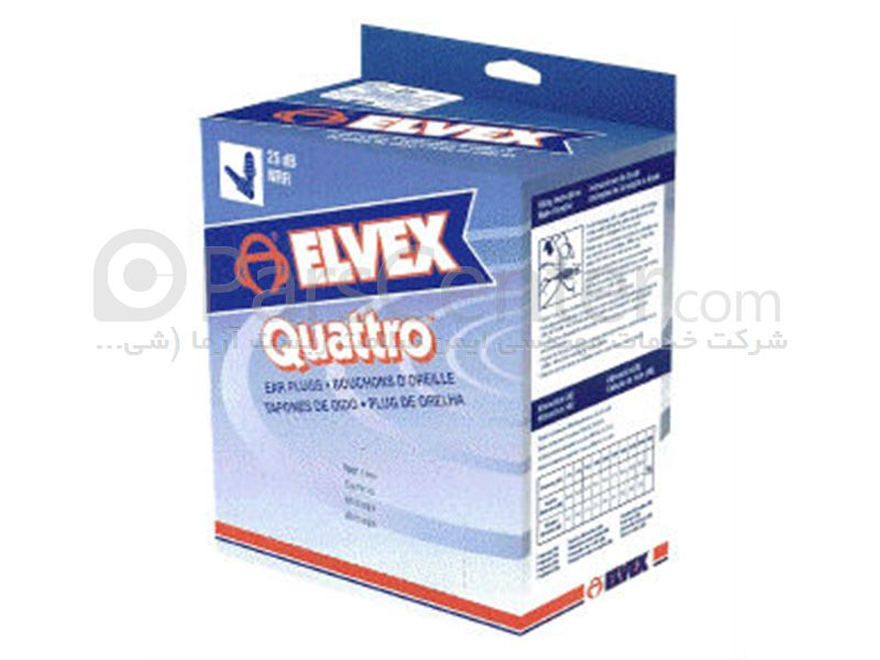 گوشی ایمنی ایرپلاگ Elvex Quattro با قابلیت استفاده مکرر