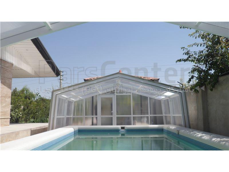 پوشش متحرک  سقف استخر شناء - زعفرانیه - کرج