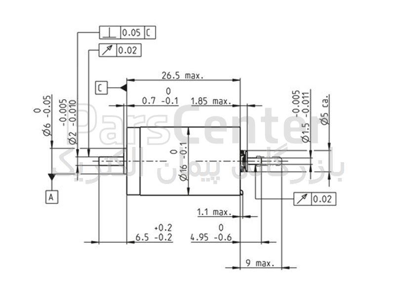 موتور ربات مکسون دی سی (Motor Maxon DC) مدل DCX16S01EBKL721