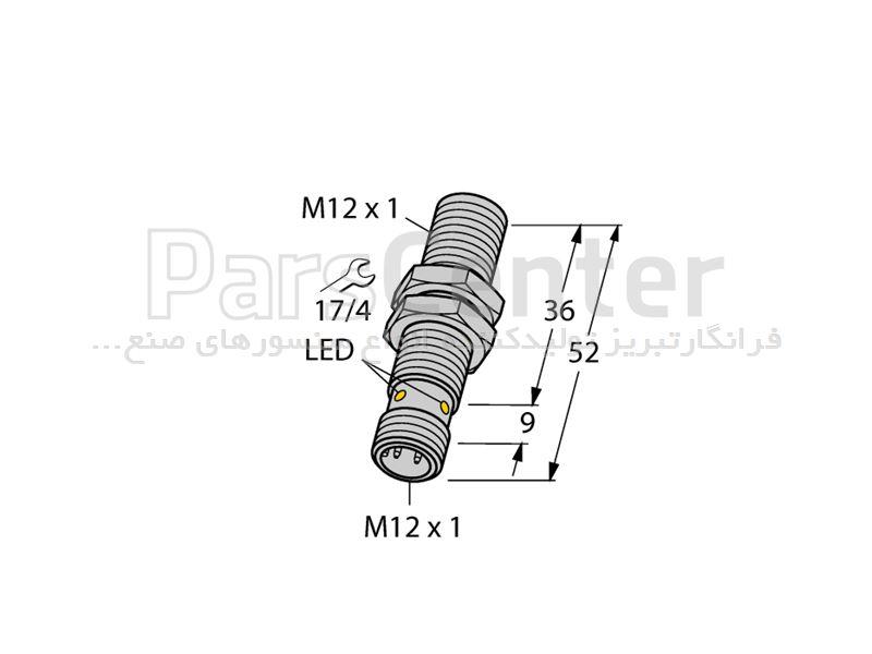 سنسورالقایی BI4-M12-AP6X-H1141 ساخت شرکت Turck آلمان