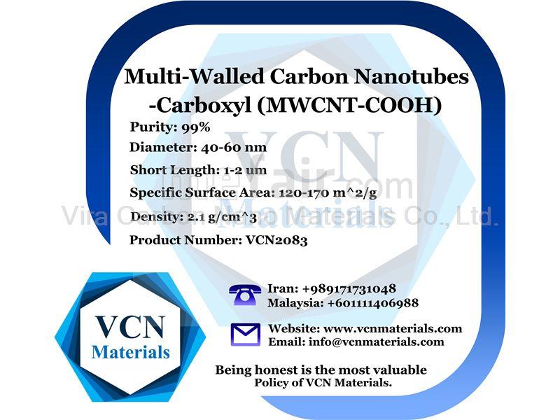 Multi-Walled Carbon Nanotubes-Carboxyl (MWNTs-COOH, 99%, Diameter 40-60 nm, Short Length 1-2 μm)