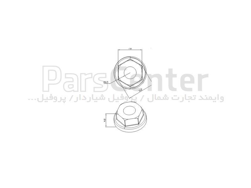 مهره واشر دار ام 5 (اتصالات پروفیل آلومینیوم)