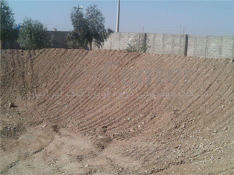 بستر سازی جهت ساخت استخر کشاورزی