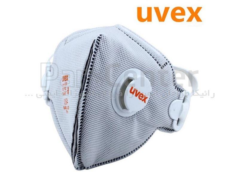 ماسک ایمنی N95 /FFP2 سوپاپ دار Uvex مدل Silv-air 3220