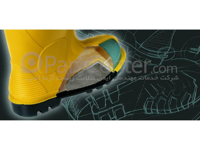 چکمه ایمنی PVC مقاوم در برابر مواد شیمیایی اسیدی و حلال های نفتی SILBER