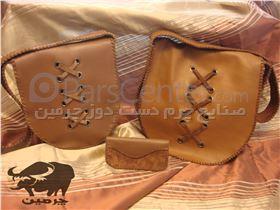 کیف دانشجویی چرمی ( دست دوز ) کد:120