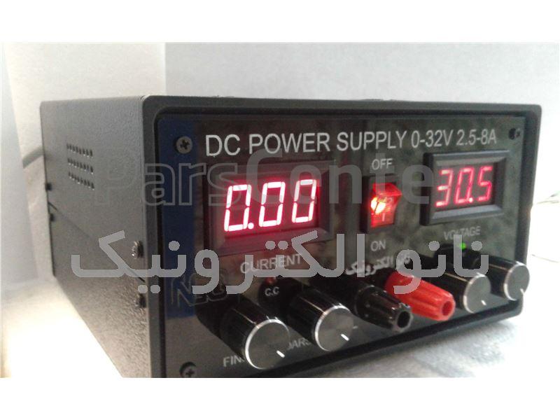 منبع تغذیه 32-0 ولت 10-2.5آمپر(70W)