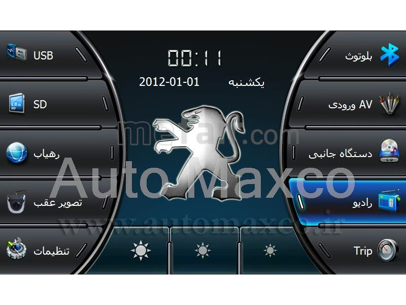Multimedia Fabric Peugeot 206 with GPS