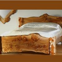 تخت خواب چوب طبیعی