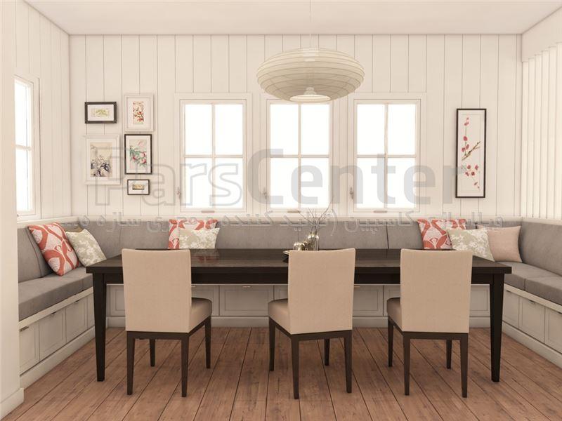 ویلای لوکس دوبلکس  با تراس بسیار زیبا و فضاهای زیبا