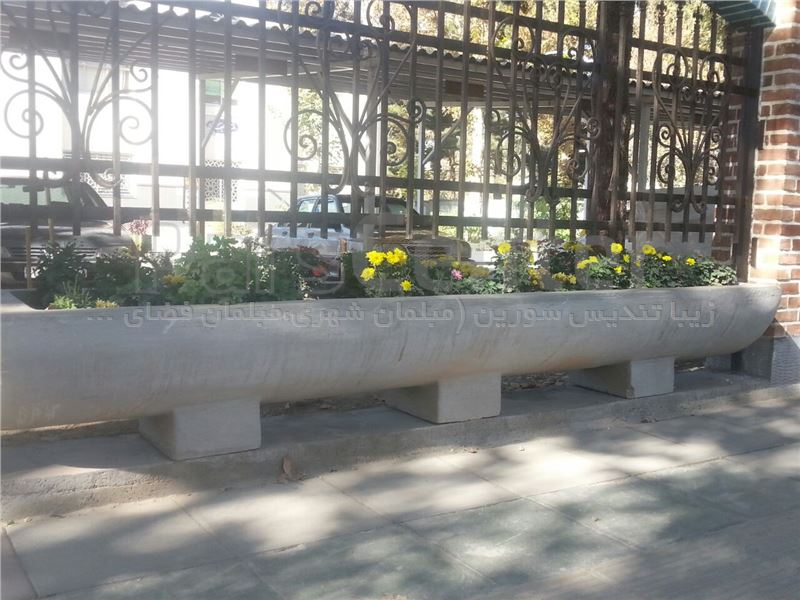 گلدان بتنی متری ZTS-G11