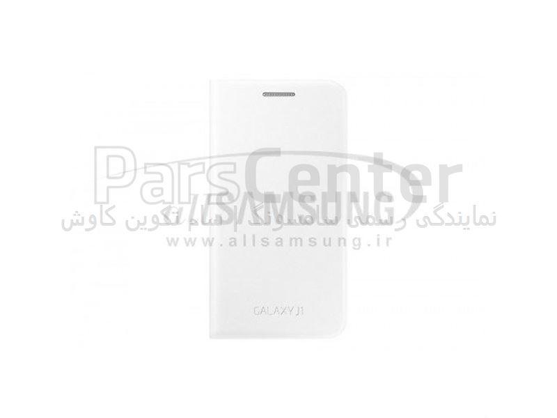 Samsung Galaxy J1 Flip Cover White فلیپ کاور سفید گلکسی جی 1 سامسونگ