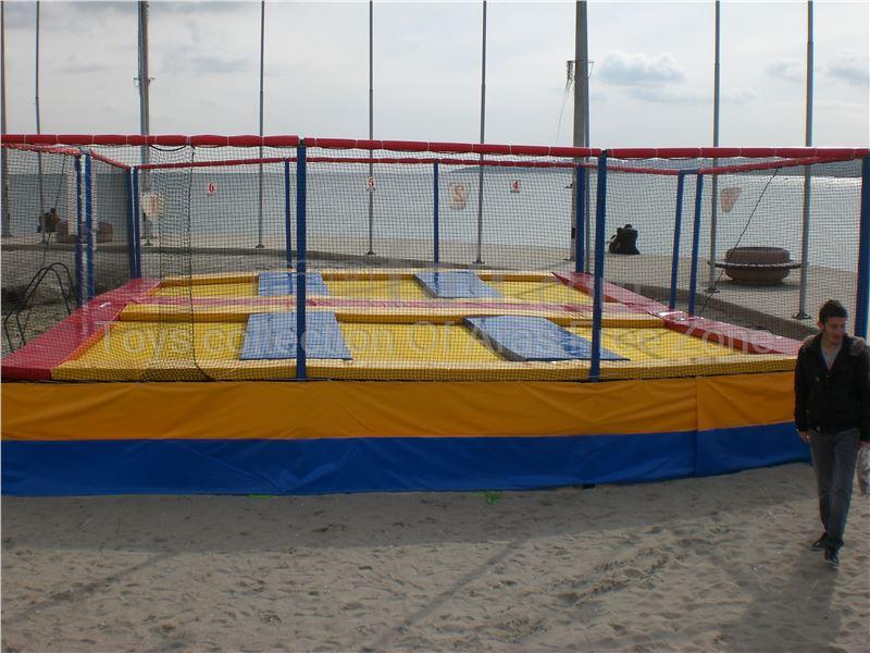 6 bed  Olympic & junior outdoor trampoline