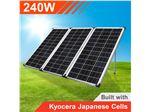 پنل (سلول) خورشیدی240وات قابل حمل (تاشو)  با کنترل شارژر