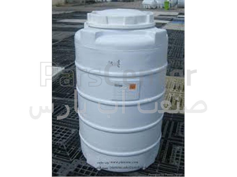 مخزن پلی اتیلن 350 لیتر عمودی  سه لایه پلاستونیک