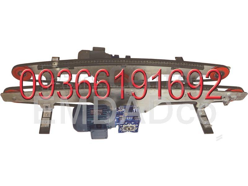 میز خم 45 یا 90 درجه کاشی و سرامیک 45 and 90 Degrees Curve composed of Belts Running on Wheels