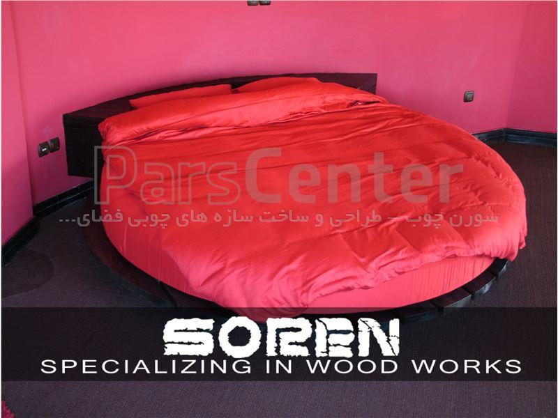 طراحی تخت خواب چوبی