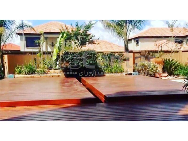 پوشش سقف استخر متحرک با جدیدترین متد (متل قو )