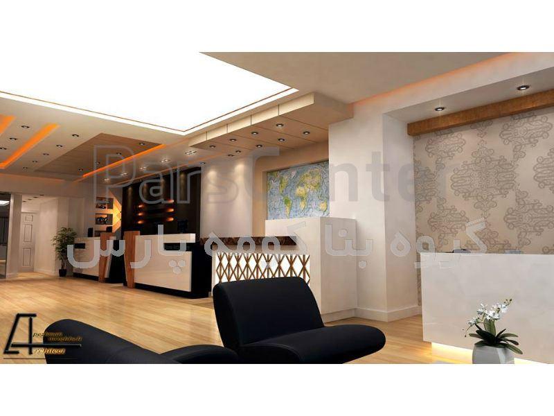 طراحی و اجرای سقف کاذب کناف - سالن اداری