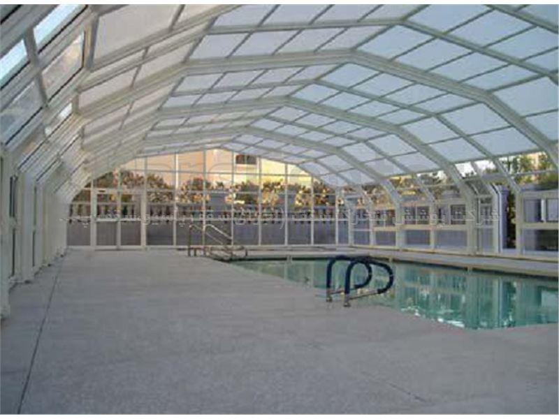 پوشش سقف استخر متحرک مدل 8 ضلعی متحرک کد E06