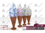 طراحی و ساخت ماکت تبلیغاتی بستنی لبه ژله ای