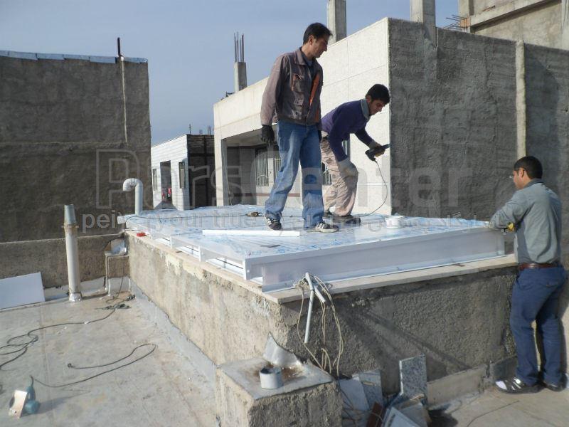 Building skylight_ پوشش سقف نورگیر (کرج - ماهدشت )