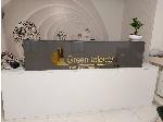 لوگو و اسم شرکت برای میز کانتر و دیوار داخلی شرکت