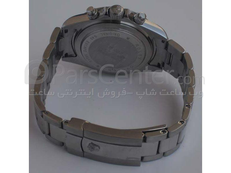 ساعت رولکس مدل  DAYTONA- شیشه ضد خش -بند استیل- رنگ صفحه مشکی- ایندکس خطی