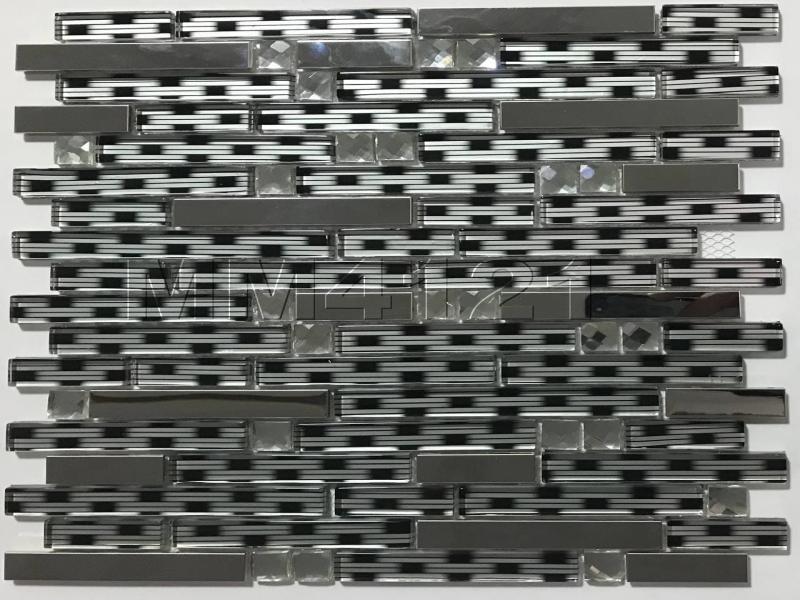 تایل بین کابینتی ترکیبی کریستال و استیل MM4121