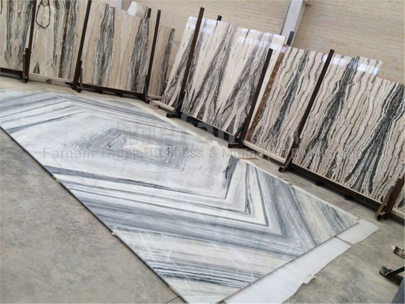 Crystal Grey Marble (Book Match)