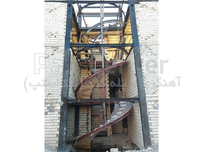 پله گرد تیرآهنی Bitastep