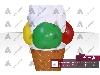 طراحی و ساخت ماکت بستنی اسکوپی قیفی