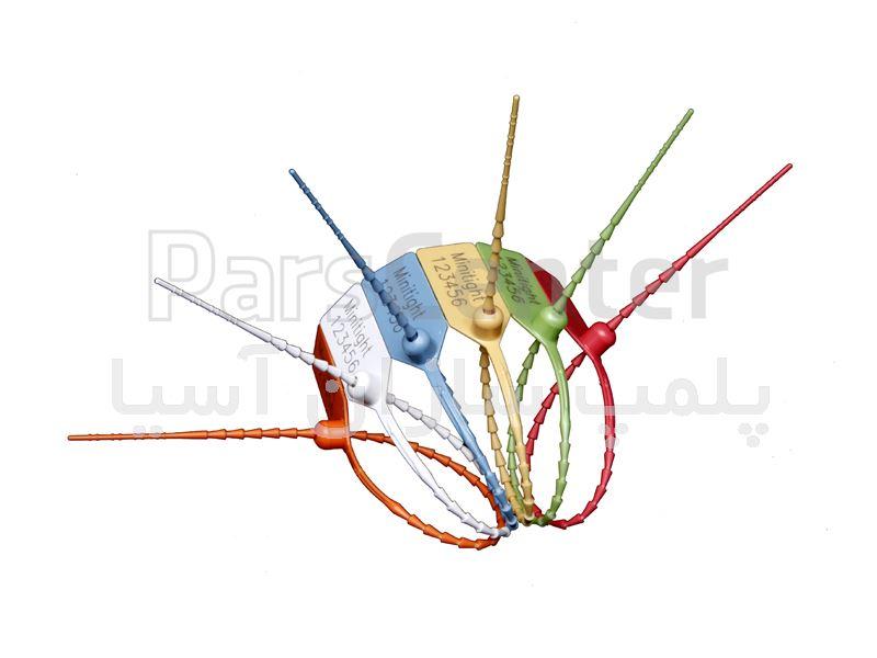 پلمپ تسمه ای پلاستیکی باریک با قفل فلزی استاندارد درب سردخانه ها