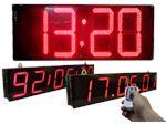 ساعت LED بزرگ در ابعاد 55 در 160 سانتیمتر