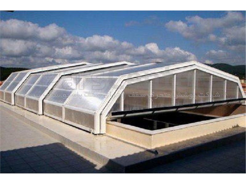 پوشش سقف استخر مدل 6 ضلعی متحرک کد E02