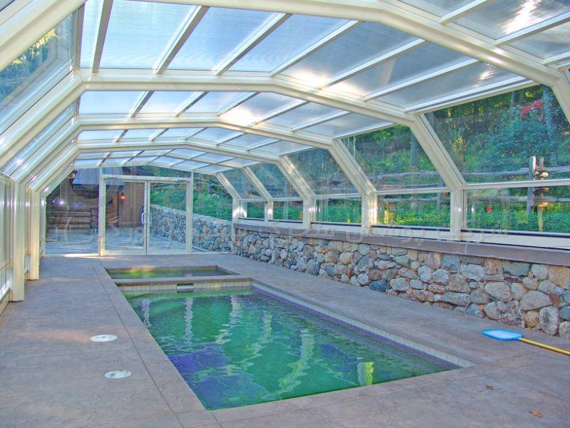 پوشش سقف استخر مدل 6 ضلعی