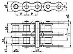 زنجیر غلتکی دو ردیفه سری B اروپایی   SIRCATENE Duplex Roller Chain DIN 8187 European