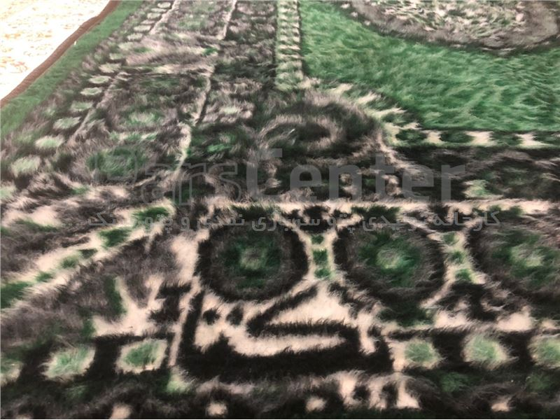 پتو مینک قالیچه سبز رنگ یکتا