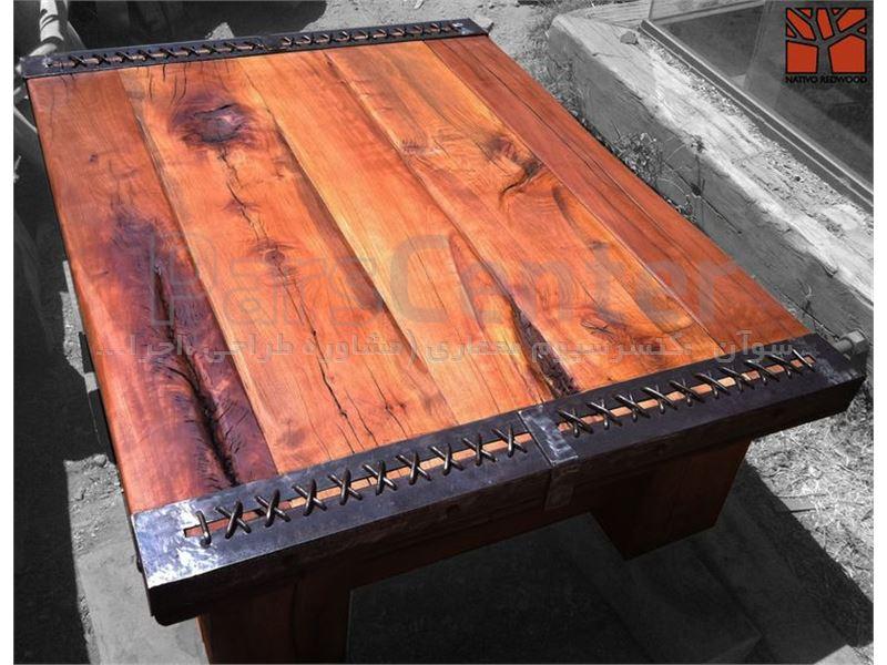 میز جلو مبلی چوب طبیعی ،فانتزی متفاوت ، مدرن، صنایع دستی