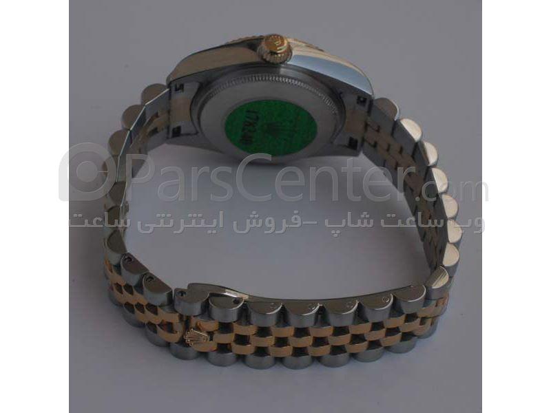 ساعت رولکس high copy مدل  DATEJUST- شیشه ضد خش -بند استیل - صفحه گلدار