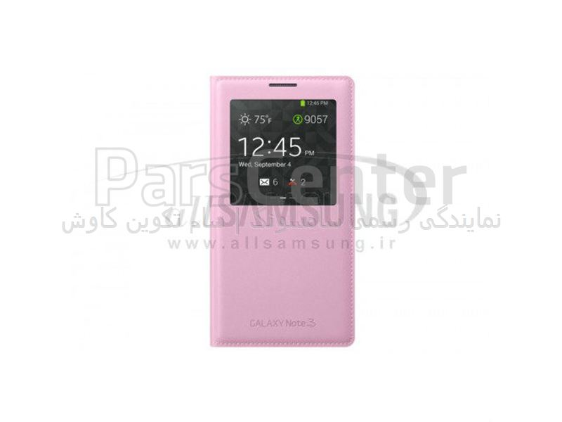 Samsung Galaxy Note 3 S View Cover Pink اس ویو کاور صورتی گلکسی نوت 3 سامسونگ