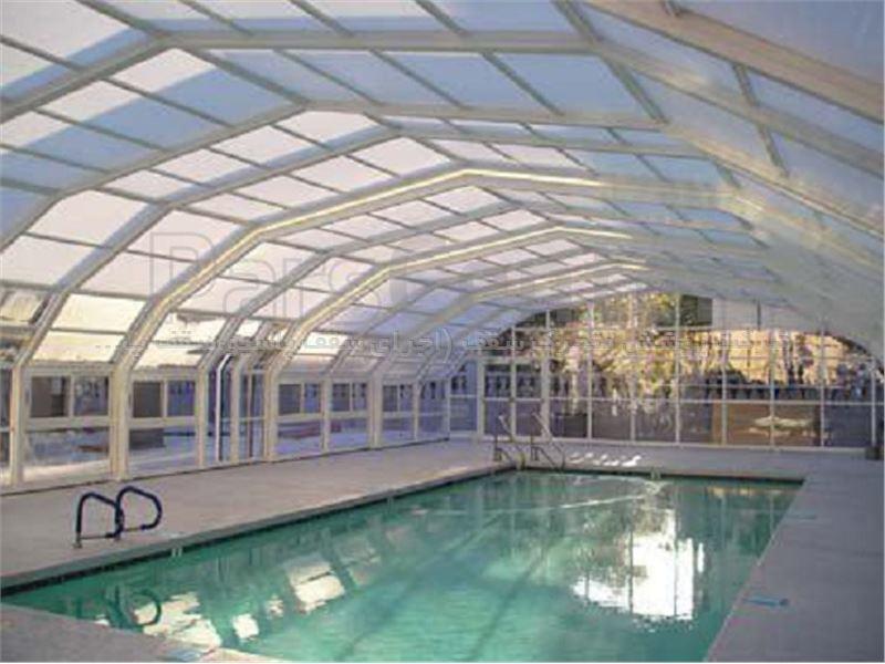 پوشش سقف استخر متحرک مدل 8 ضلعی متحرک کد E05