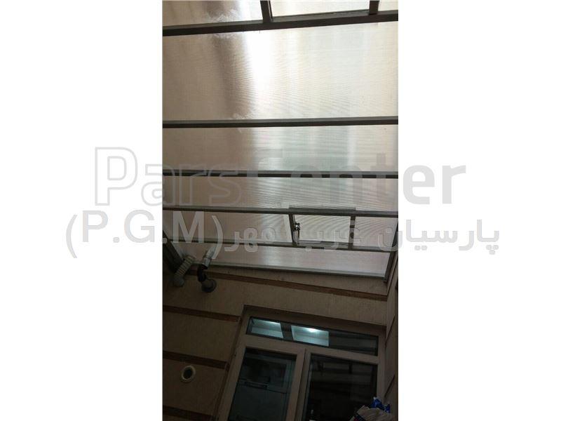 اجرای سقف کاذب پلی کربنات حیاط خلوت (بهار شیراز)